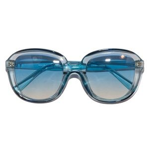 Retro 70s Disco Ombré Aqua Crystal  Sunglasses